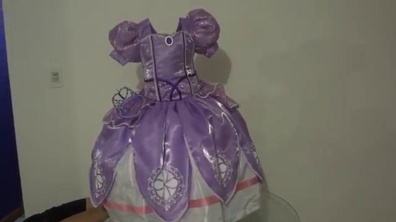 Vestido Princesa Sofia Para Nina Disfraz