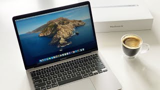2020 MacBook Air Unboxing! space grey