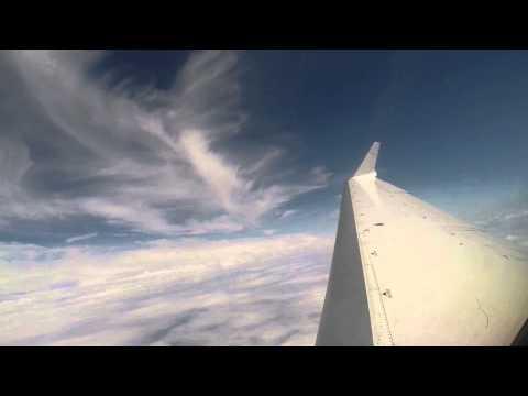 Window View: Full Flight Frankfurt to Muenster/Osnabrueck - from engine start to shut down - CRJ 700