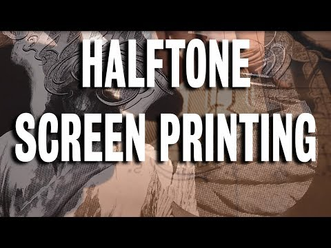 Halftone Screen Printing T-shirts // How-To