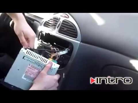 как снять магнитофон на ситроени с 4