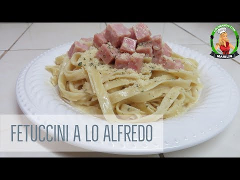 Fetuccini a tallarín a lo Alfredo | Mi estilo | Cocinando con Marilin