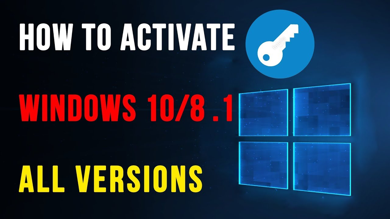 Windows 10 Activation 2020 | All Editions | Free Product ...