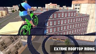 Rooftop BMX Bicycle Stunts Android Gameplay HD screenshot 3
