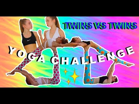 Twin VS Extreme Yoga Challenge 4 Person Poses