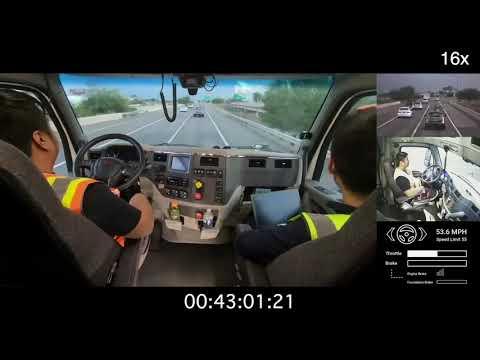Autonomous Truck Drives in a Storm, Hub to Hub, Zero Disengagements