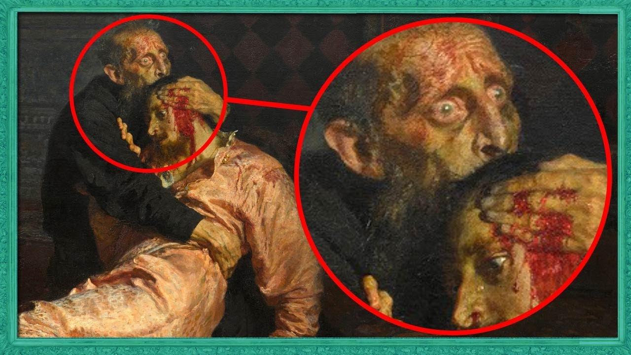"""""""이 그림에 관련된 사람들은 미치거나 죽었다""""...이반 뇌제와 그의 아들에 담긴 소름돋는 비밀"""