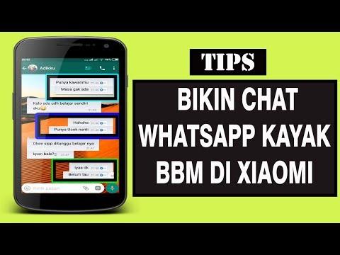 Cara Buat Tampilan Chat WhatsApp Seperti Tampilan BBM