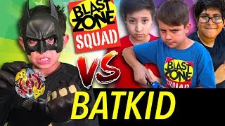 Beyblade Battle! BatKid vs Blast Zone Squad! New Beyblade Burst funny videos. Best Beyblades.