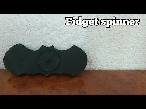 How to make batman fidget spinner wihout bearings