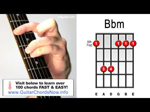 Bbm Guitar Chord Worshipchords