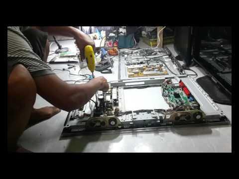 cara memperbaiki tv led polytron