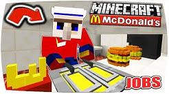 MINECRAFT JOBS: MEIN 1. ARBEITSTAG bei MCDONALDS! | (Minecraft Roleplay) • #01