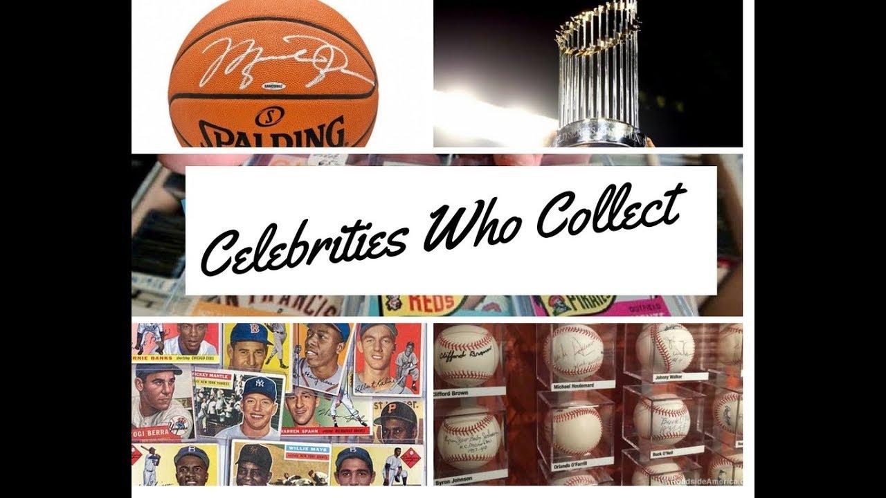 Celebrities Athletes Who Collect Baseball Cards Memorabilia