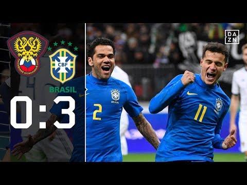 Selecao lässt WM-Gastgeber keine Chance: Russland - Brasilien 0:3 | Highlights | Länderspiele | DAZN