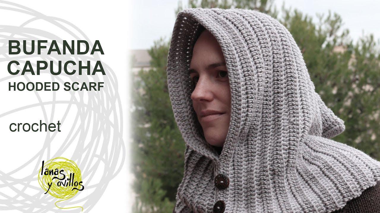 Tutorial Cuello Capucha Crochet o Ganchillo - YouTube