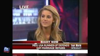 Miss California, Carrie Prejean, on Fox News