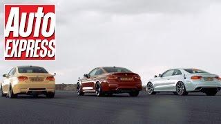سباق بين أودي RS5 ضد بي-أم-دبليو M4 ضد M3 كوبيه السابقة