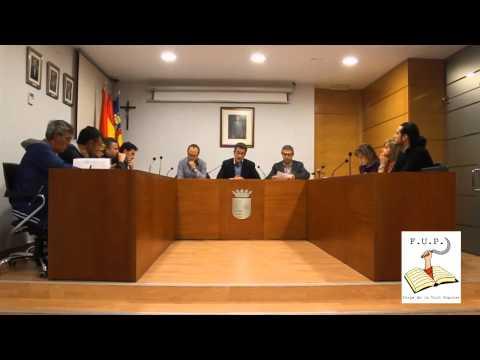 Ple a l'ajuntament de Xilxes Castelló 28 11 2013