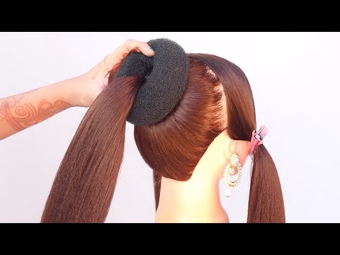 latest-high-bun-hairstyle-for-bridal-||-new-hairstyle-||-hairstyle-for-women-||-bridal-hairstyle