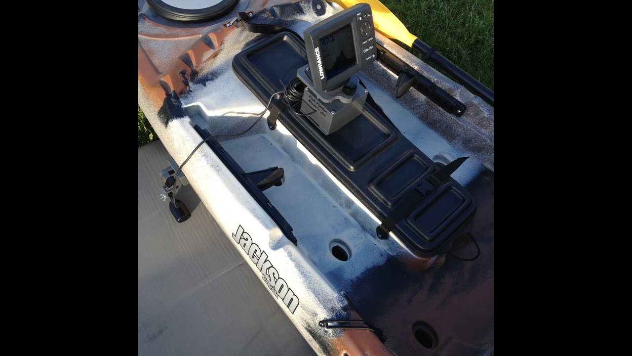 Install a fish finder on a jackson sot kayak less than 5 for Kayak fish finder install
