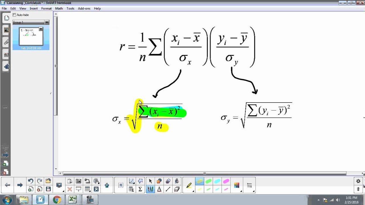 [IB Math SL] Calculating Correlation Coefficient