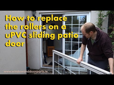 How to replace the rollers on a uPVC sliding patio door
