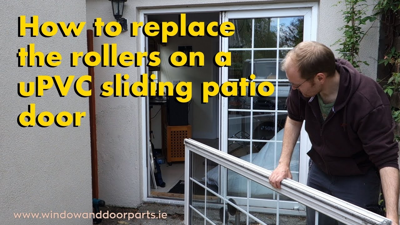 How To Replace The Rollers On A Upvc Sliding Patio Door Youtube