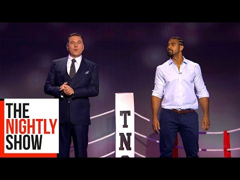Head To Head: David Haye vs David Walliams | The Nightly Show