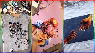 TIK TOK PAINTING ON CLOTHES COMPILATION 2019