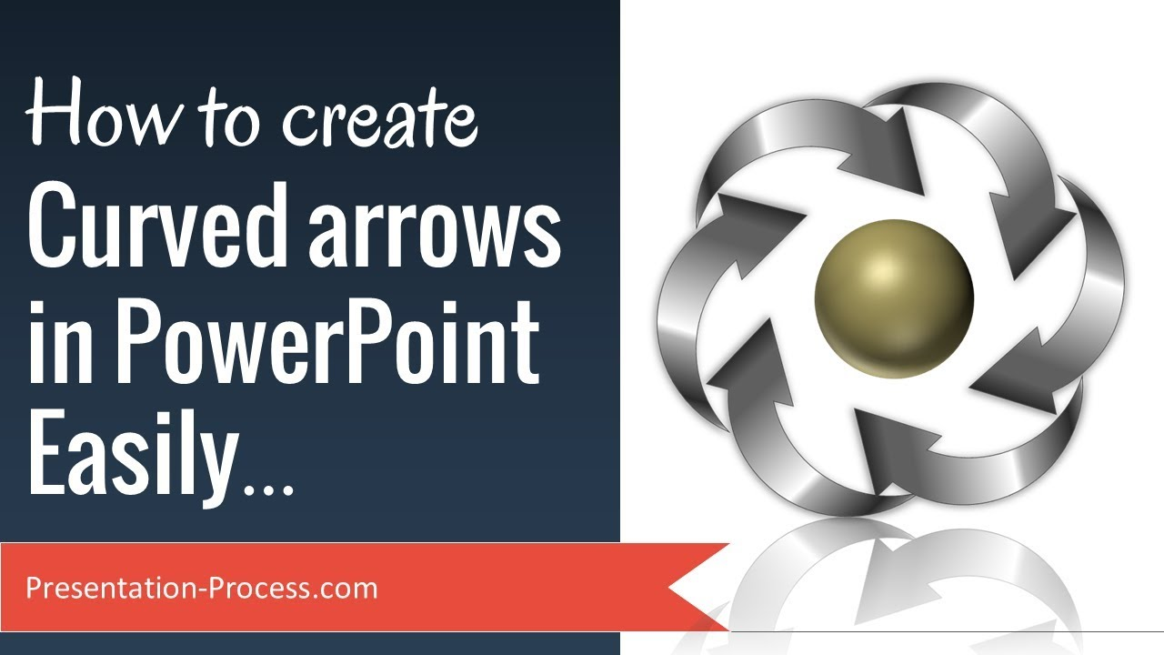 how to create curved arrow in powerpoint easily - youtube, Powerpoint templates