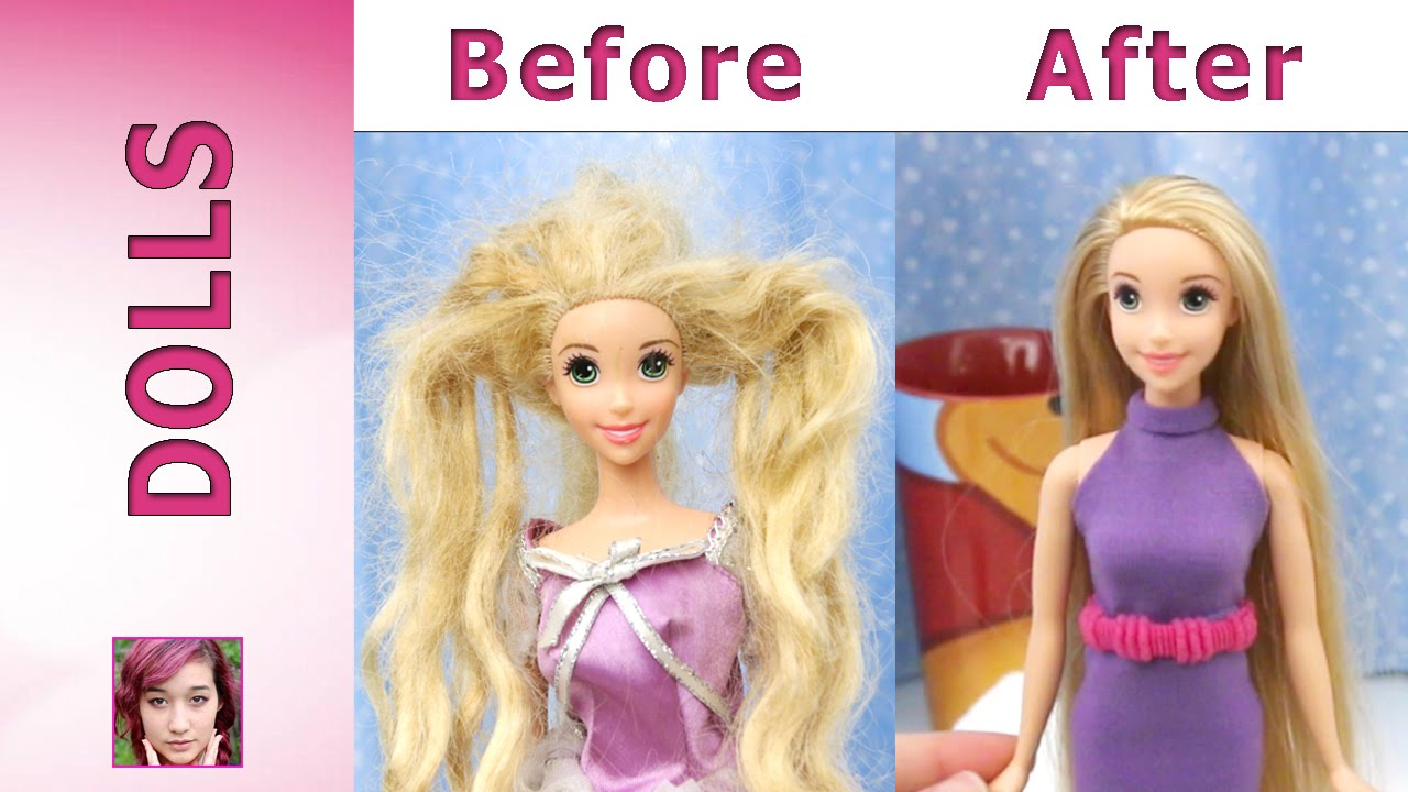 Rapunzel S Makeover Hair Repair And New Dress Youtube