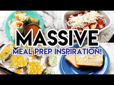 huge-meal-prep!-🤩-spring-rolls-🥑-cheese-manicotti-🍝-granola-🍞-homemade-bread-🥗-vegetarian-recipes