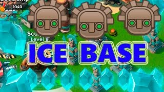 ICE STATUE PUSH BASE | Boom Beach | STRONG DEFENSE