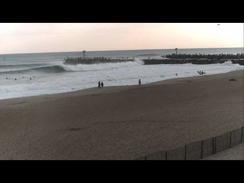 Surfing Manasquan Inlet during Hurricane Gonzalo