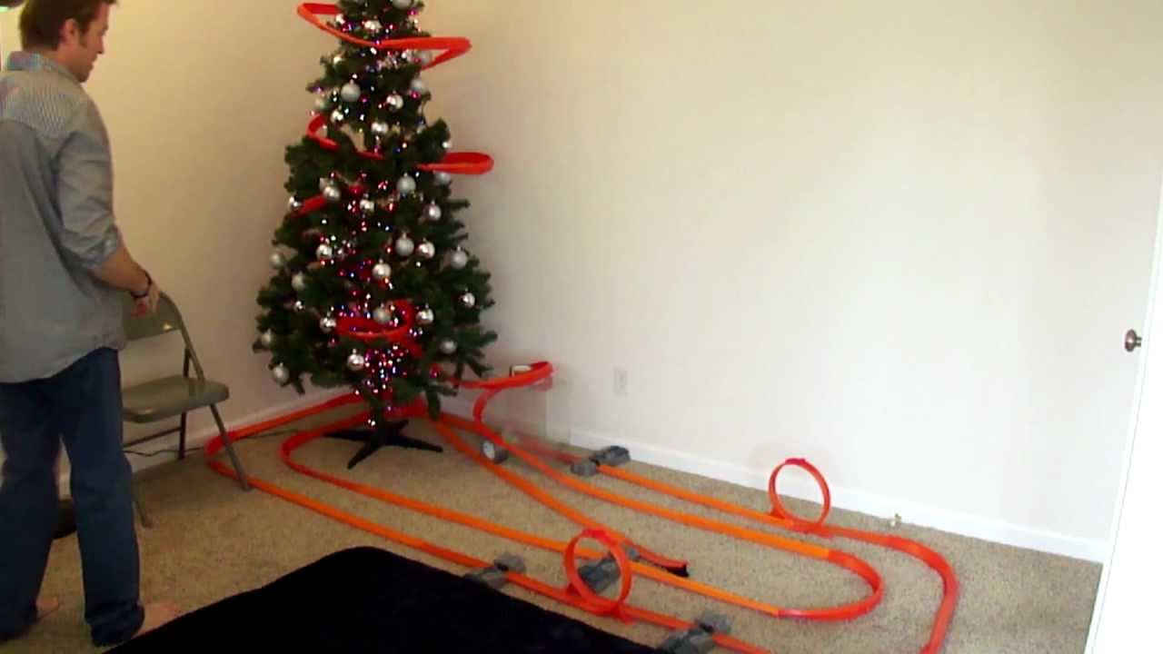 Hot Wheels Christmas Tree Roller Coaster Youtube
