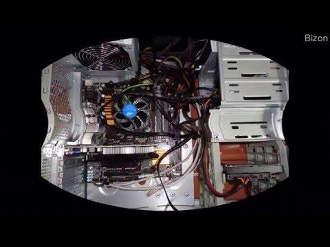 Сборка компьютера и укладка кабелей Hardware Installation and laying of cables