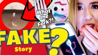** lustige FEHLER ** Rebekah Wing klaut FORKY (aus Toy Story) - und macht alles falsch!
