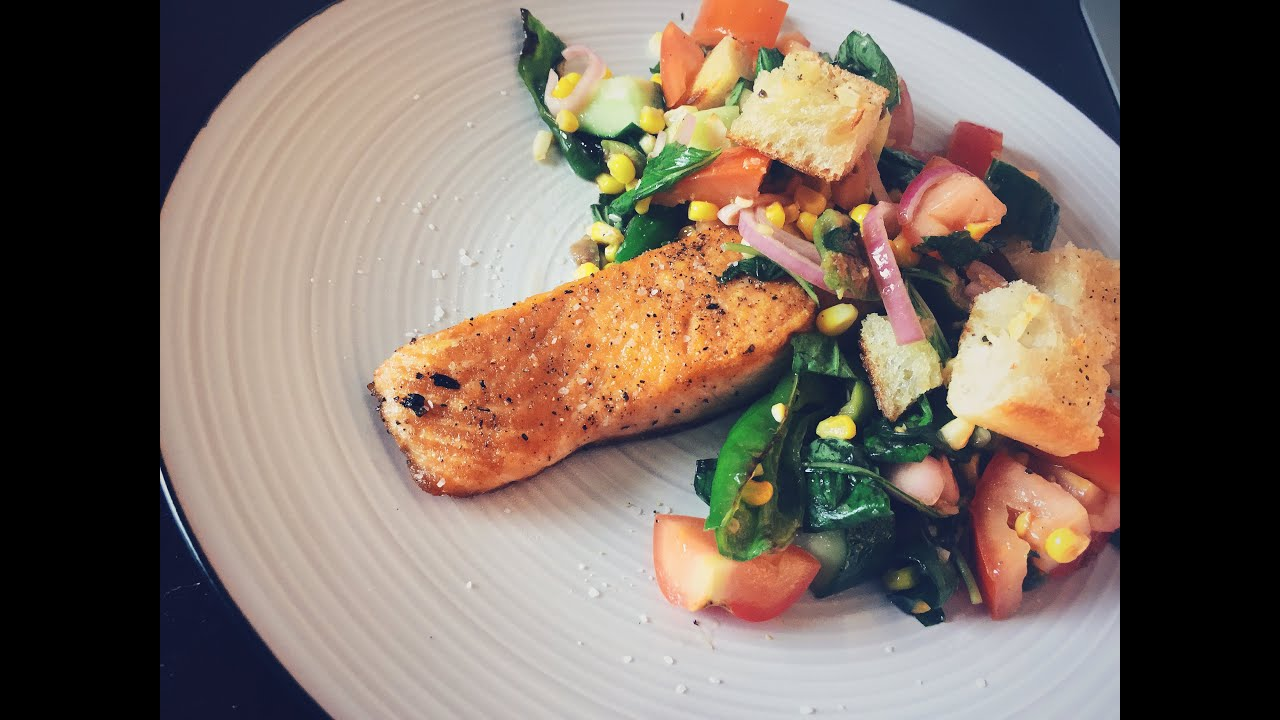 Blue apron unsubscribe - Cooking With Q Blue Apron Salmon Panzanella