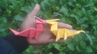 #origami dragon # HOW to make a origami dragon easy way paper folded
