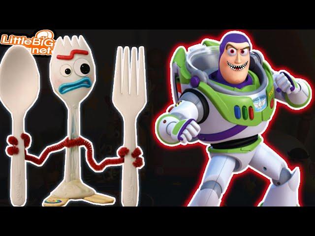 Forky & *CrAzY* Buzz Lightyear Toy Story | LittleBigPlanet 3