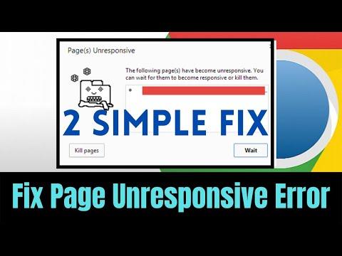 How to Fix Google Chrome Page Unresponsive Problem | 2 Best \u0026 Simple