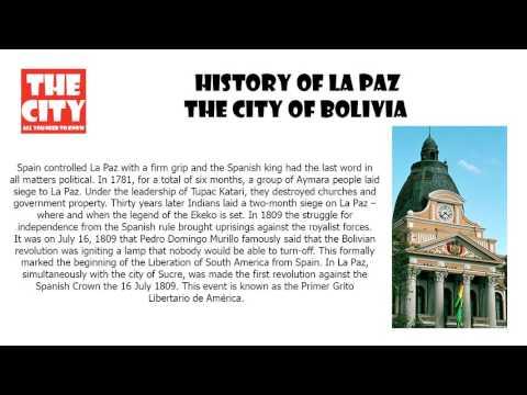History of LA PAZ , The city of Bolivia