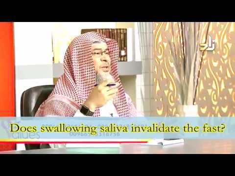 Does swallowing saliva invalidate my fast? - Sheikh Assim Al Hakeem
