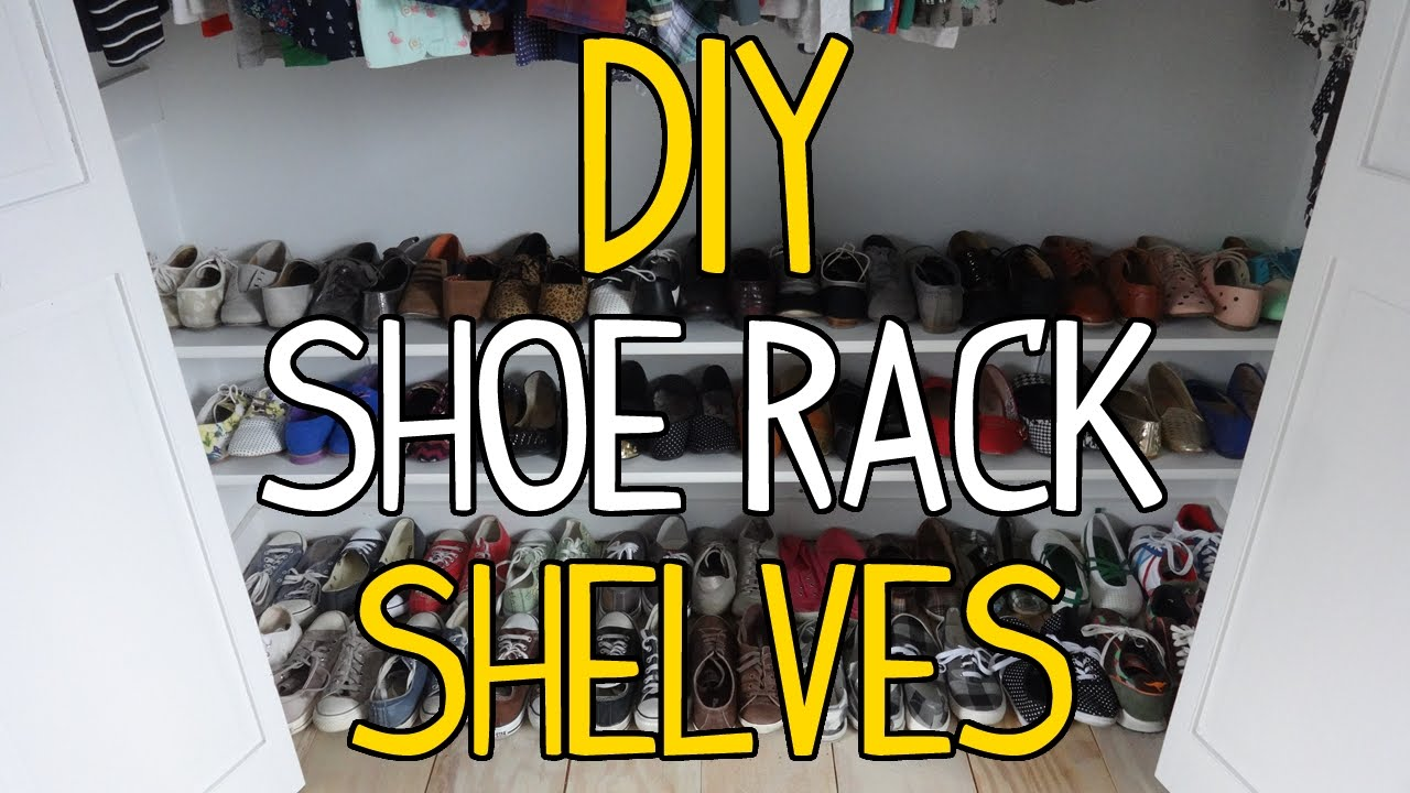 How To Build Simple DIY Shoe Rack Shelves!   YouTube