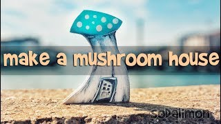 How to Create an Awesome Little Mushroom House from Wood DIY
