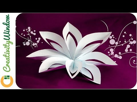 Layered Paper Flower Cutting And Folding Technique Youtube