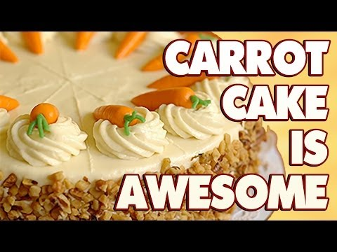 """""""Carrot Cake is Awesome"""" - Comedy Button Clip"""
