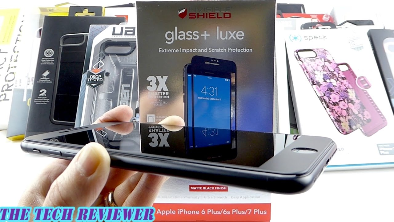 new york c0366 fc918 3X Shatter Protection & Case Compatible Edge to Edge Coverage: Zagg Glass+  Luxe for iPhone 7 Plus!