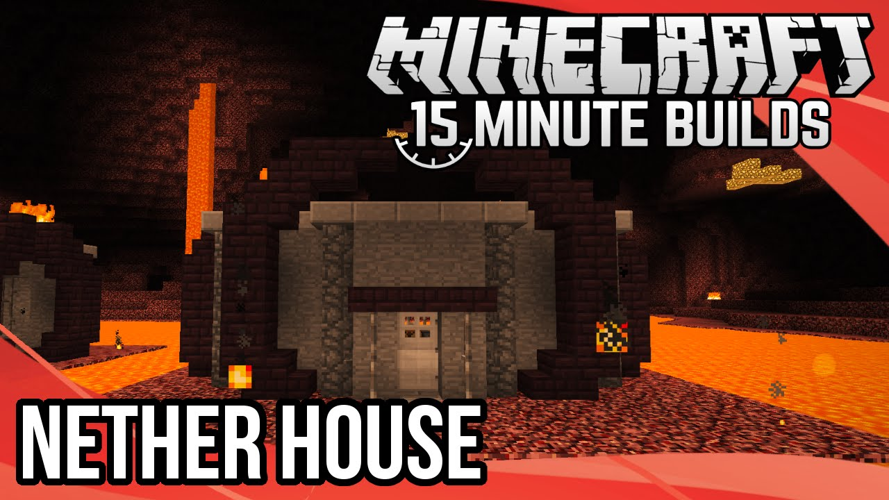 Minecraft 15 Minute Builds Nether House Youtube